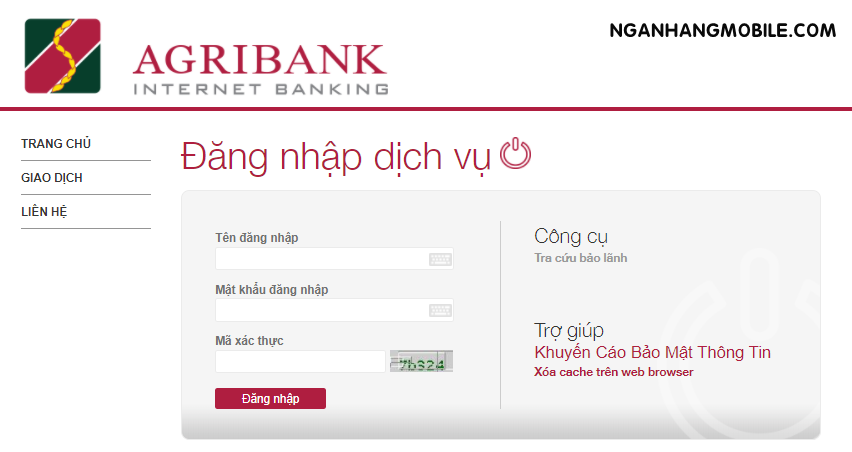 Chuyen tien qua internet banking agribank