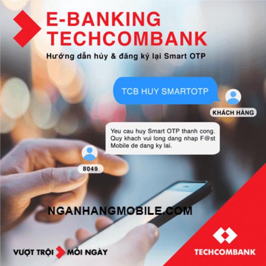Cách hủy Smart OTP Techcombank